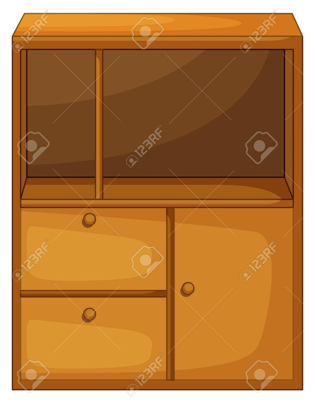 Illustration of isolated piece of furniture Stock Vector - 13493995