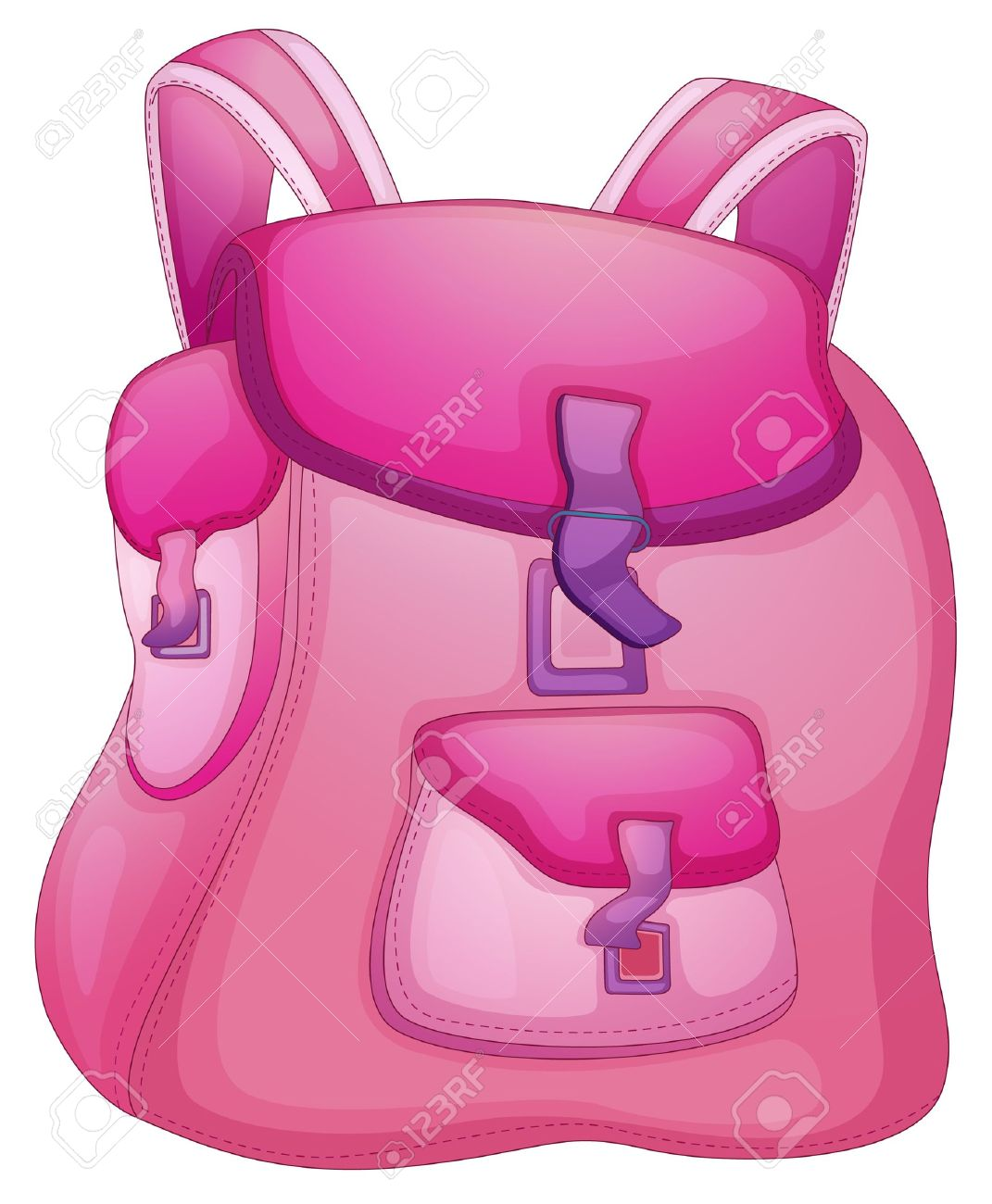 Illustration Of A School Bag On White Royalty Free Cliparts ...