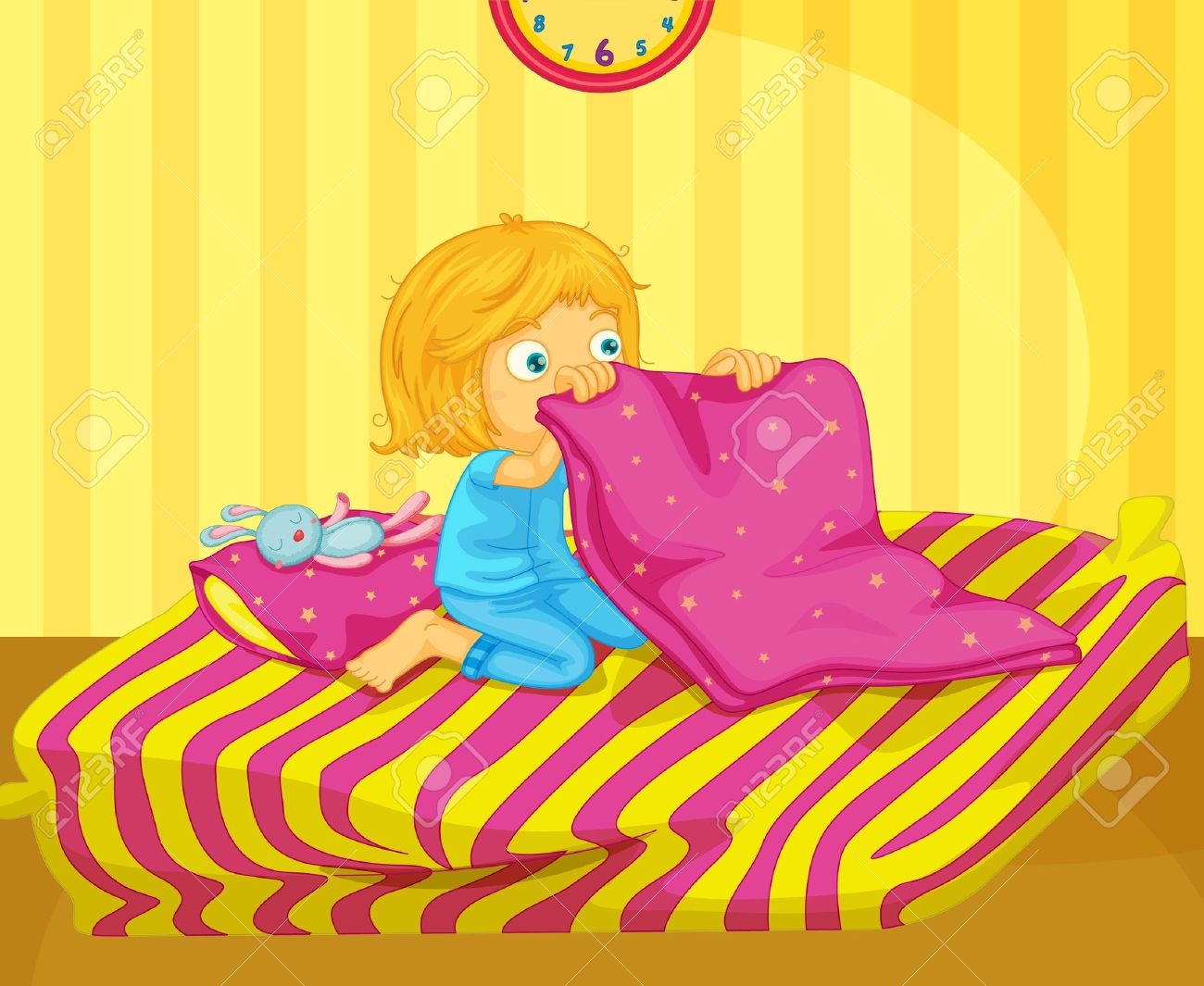make bed  Illustration of recently woken girl Illustration. Make Bed Stock Photos Images  Royalty Free Make Bed Images And