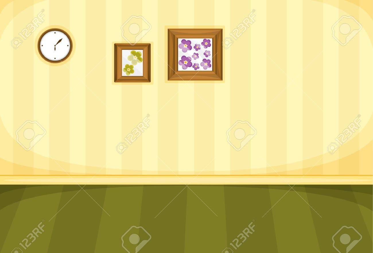 Illustration of frames on a blank wall Stock Vector - 13524504