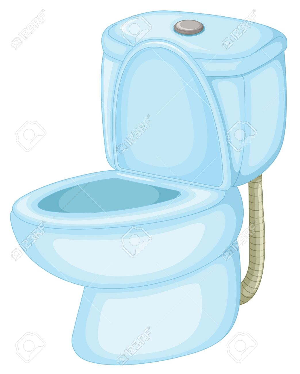 Illustration Of An Isolated Toilet Stock Vector