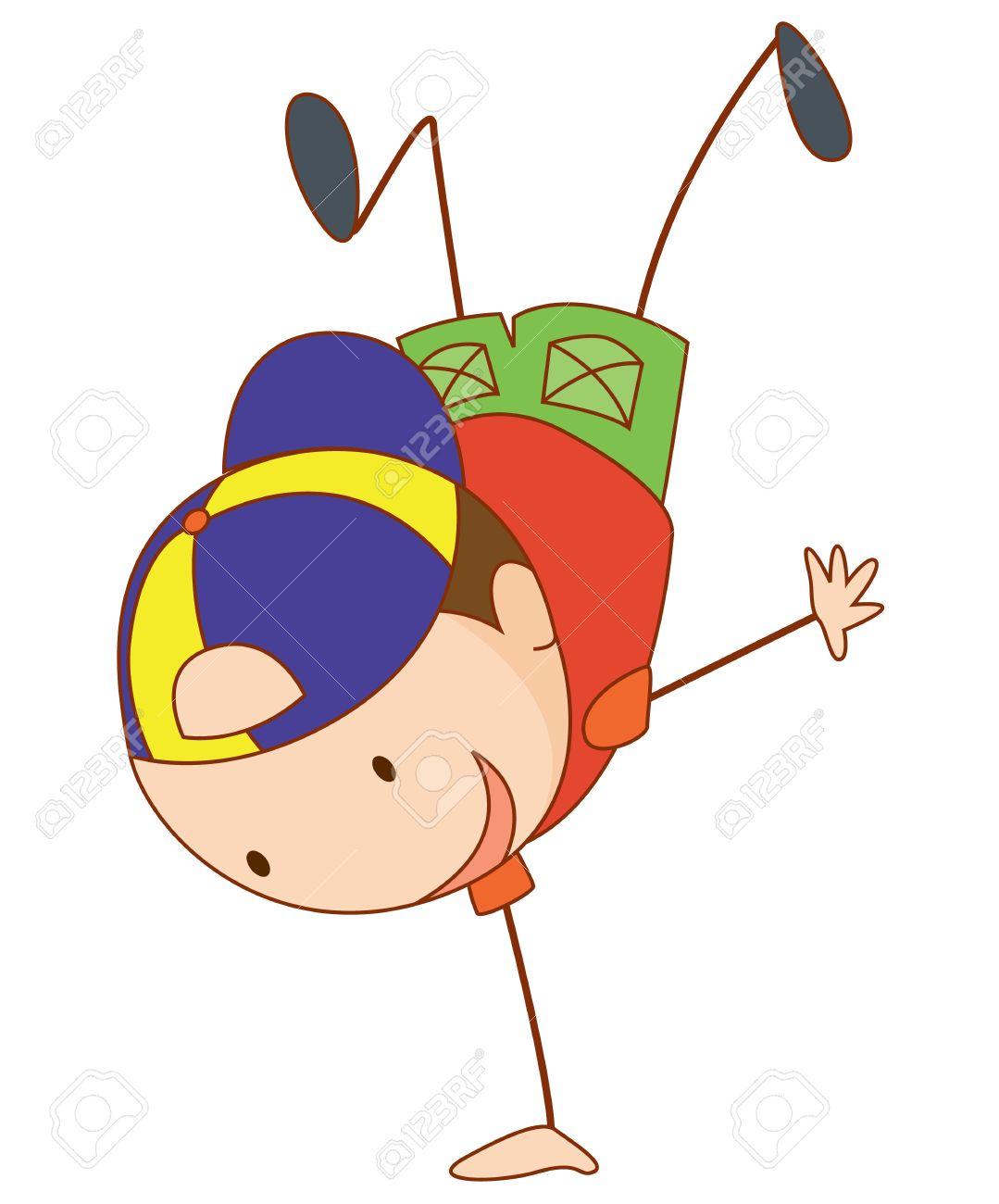 simple cartoon of a cute boy stock vector 13593676