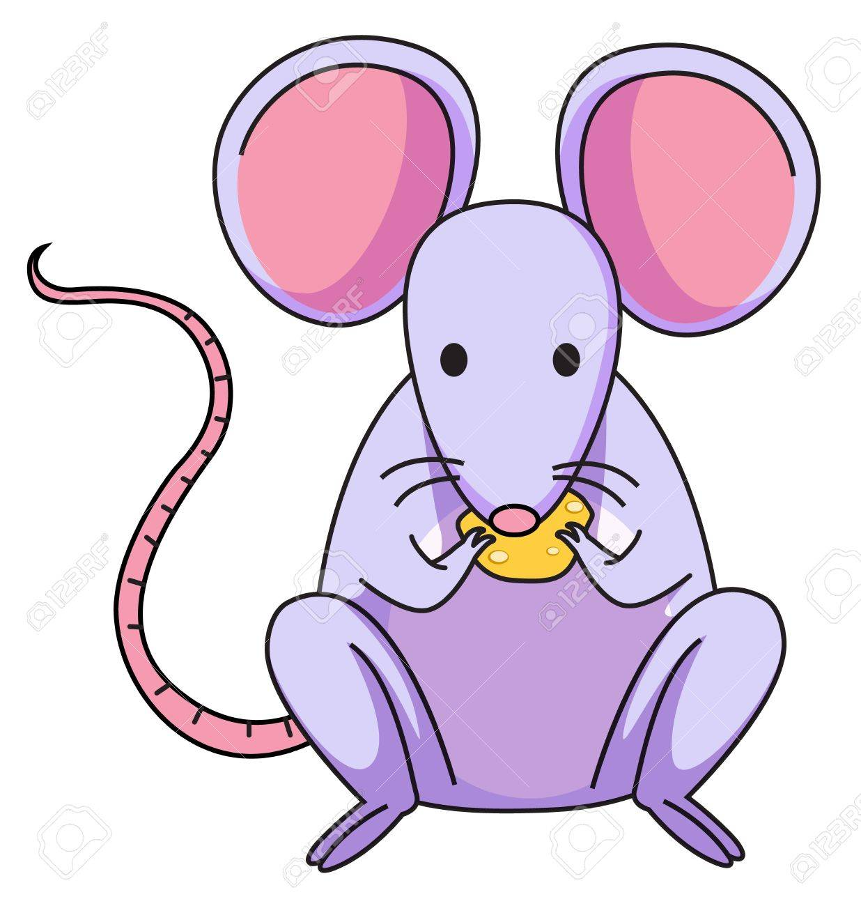 Illustration of a purple mouse Stock Vector - 13593694