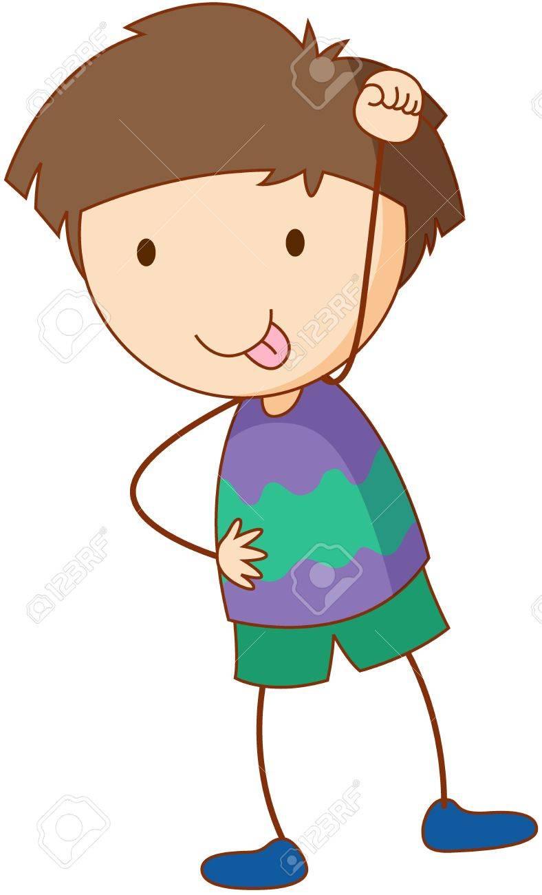 Illustration of boy standing on white Stock Vector - 13593833