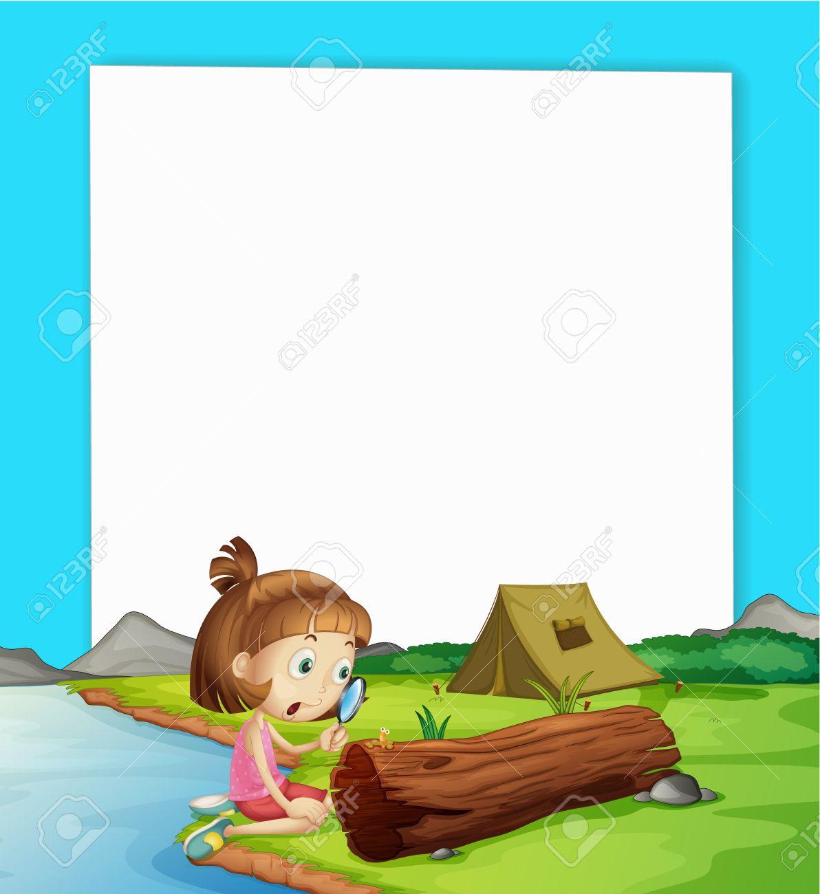 Illustration of camping paper scene Stock Vector - 13635821