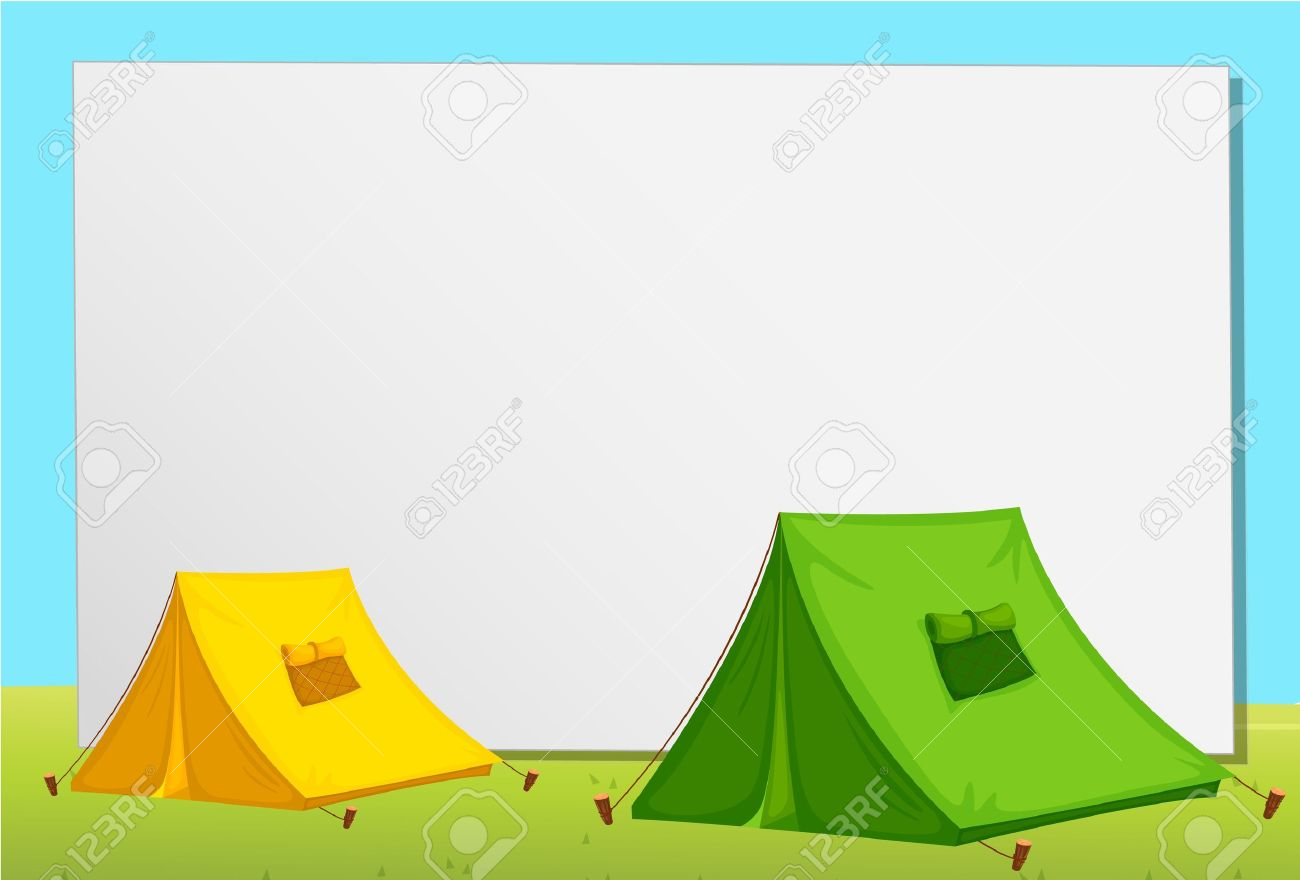 White paper template with tents Stock Vector - 13632008  sc 1 st  123RF Stock Photos & White Paper Template With Tents Royalty Free Cliparts Vectors ...