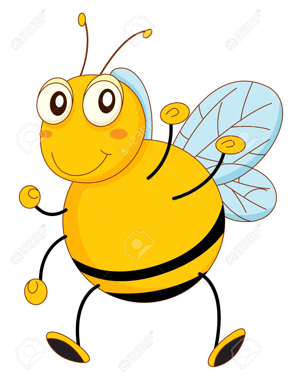 simple cartoon of a bee stock vector 13630215 - Simple Cartoon Pics