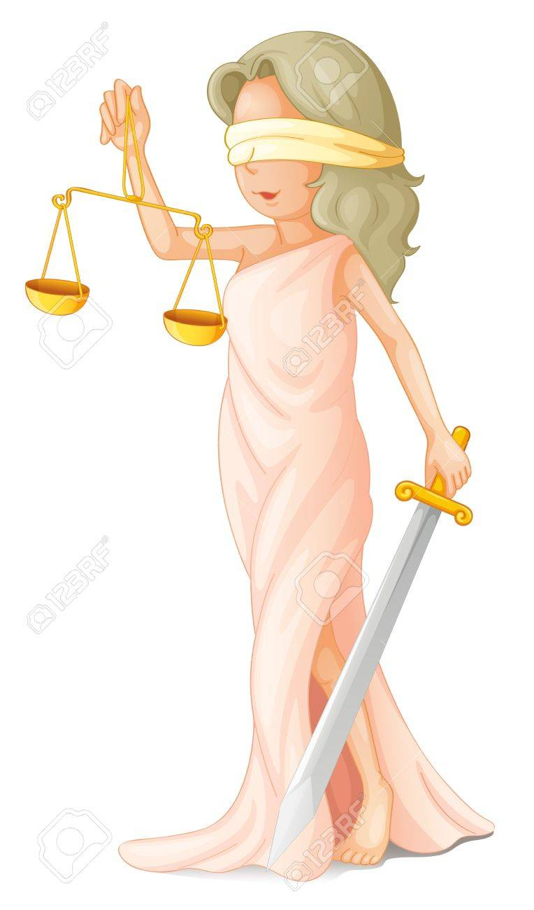 Illustration of blind justice concept Stock Vector - 13667421