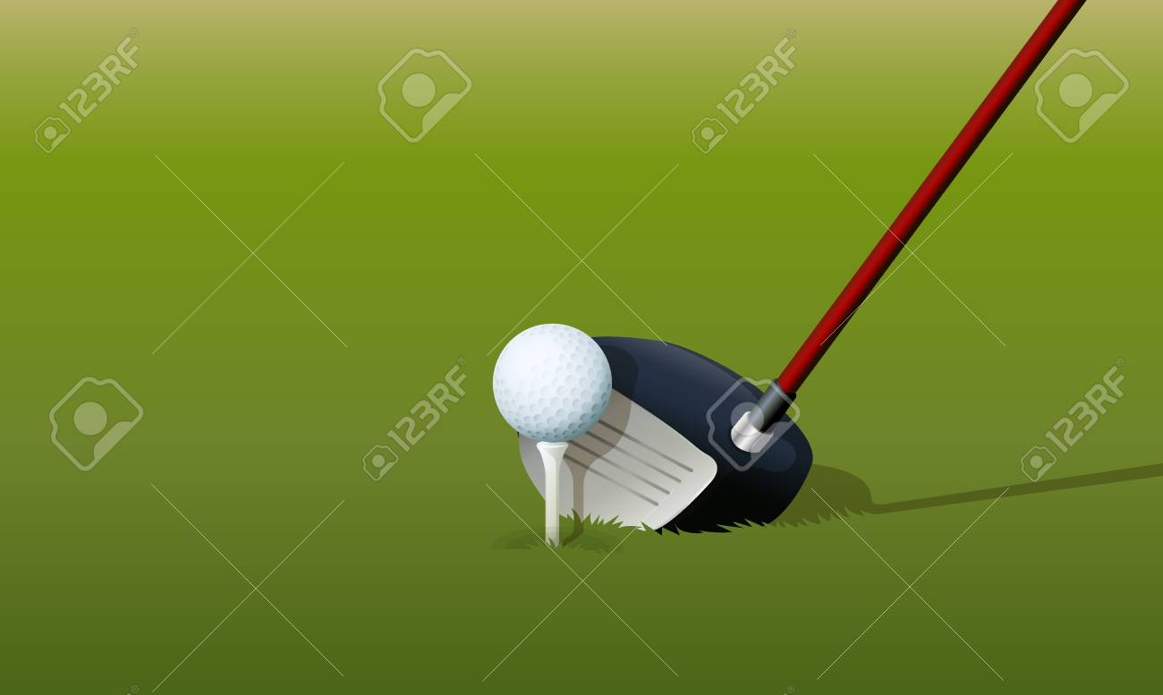 Illustration of a golf drive Stock Vector - 13667475