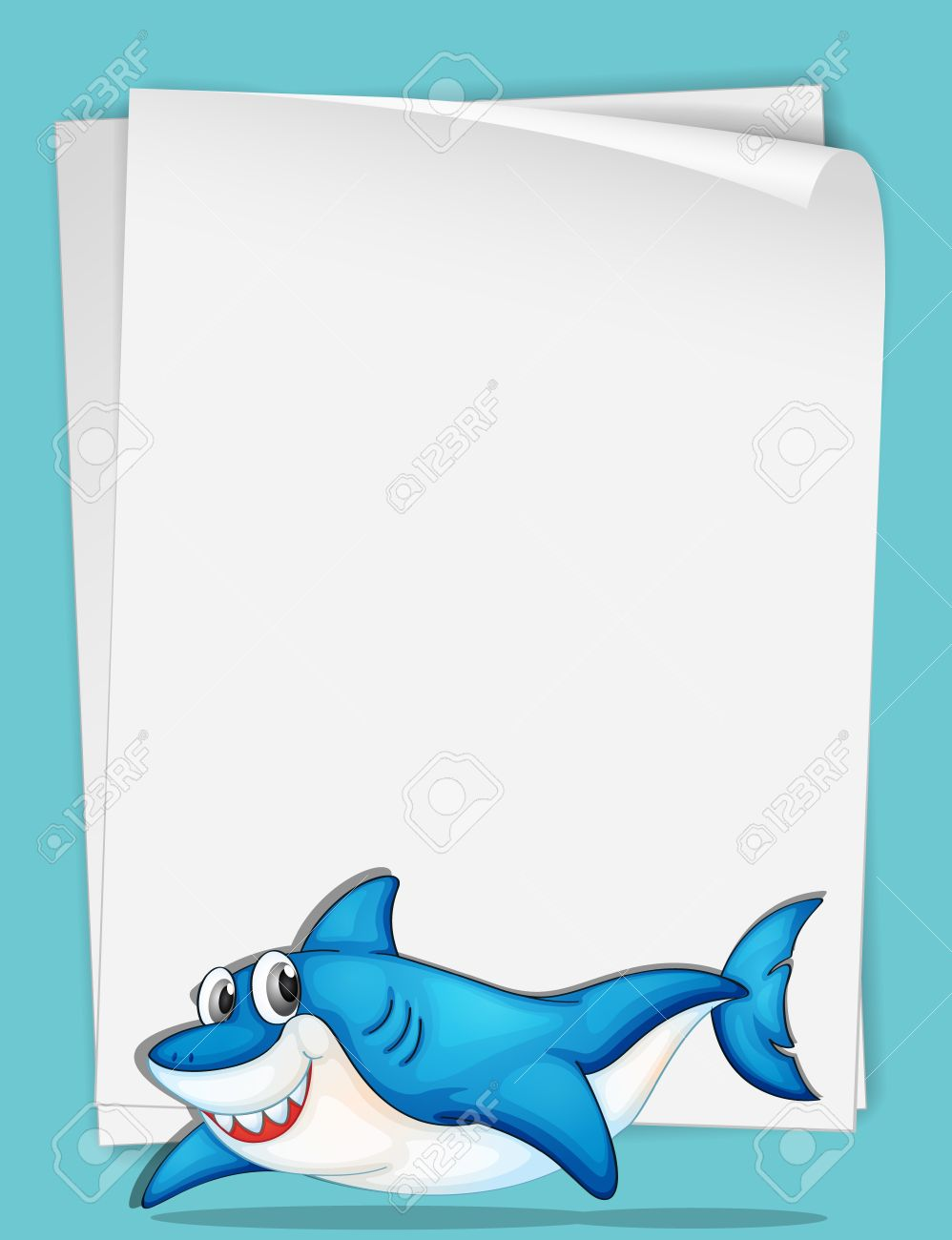 illustration of shark swimming paper royalty cliparts  illustration of shark swimming paper stock vector 13667489