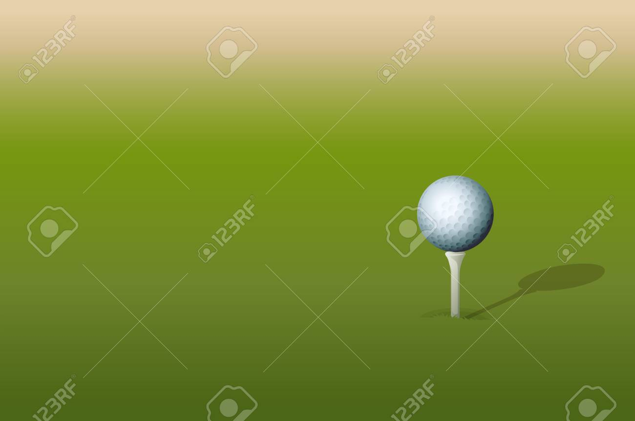 Illustration of golf ball on tee Stock Vector - 13667434
