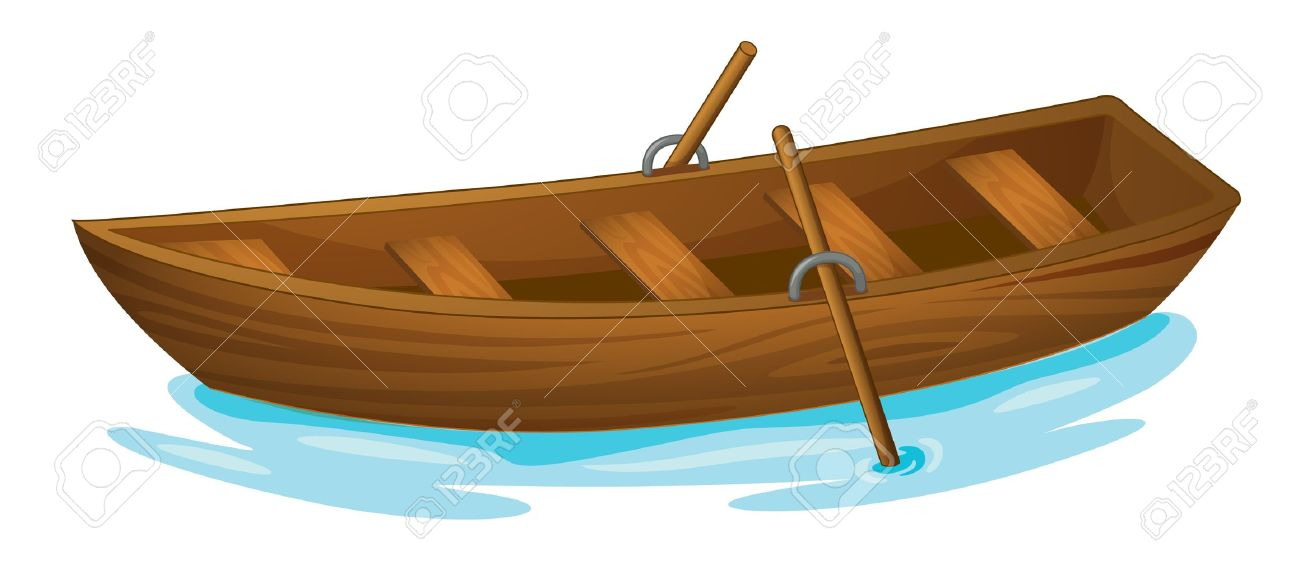 Illustration Of A Wooden Boat Stock Vector