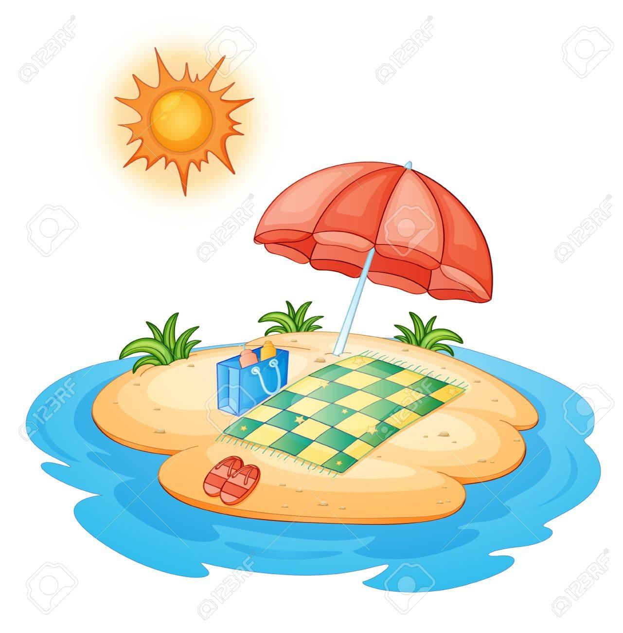 Illustration of a tiny island Stock Vector - 13667487