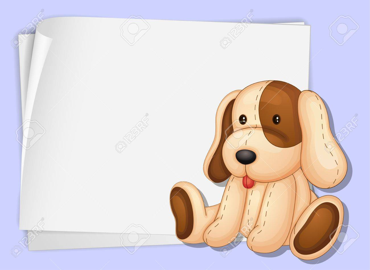 Illustration of a soft dog on paper Stock Vector - 13667444