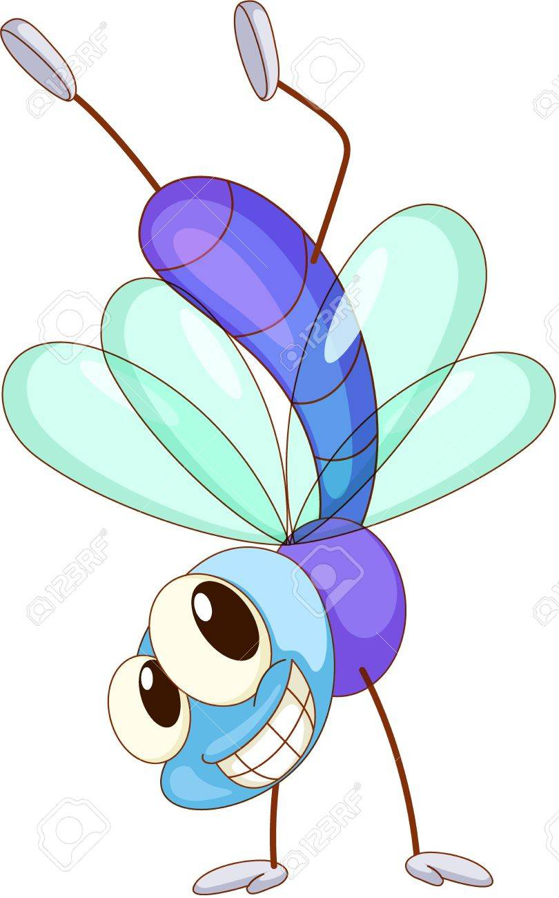 Cute Dragonfly Clipart of a Cute Fly Dragonfly
