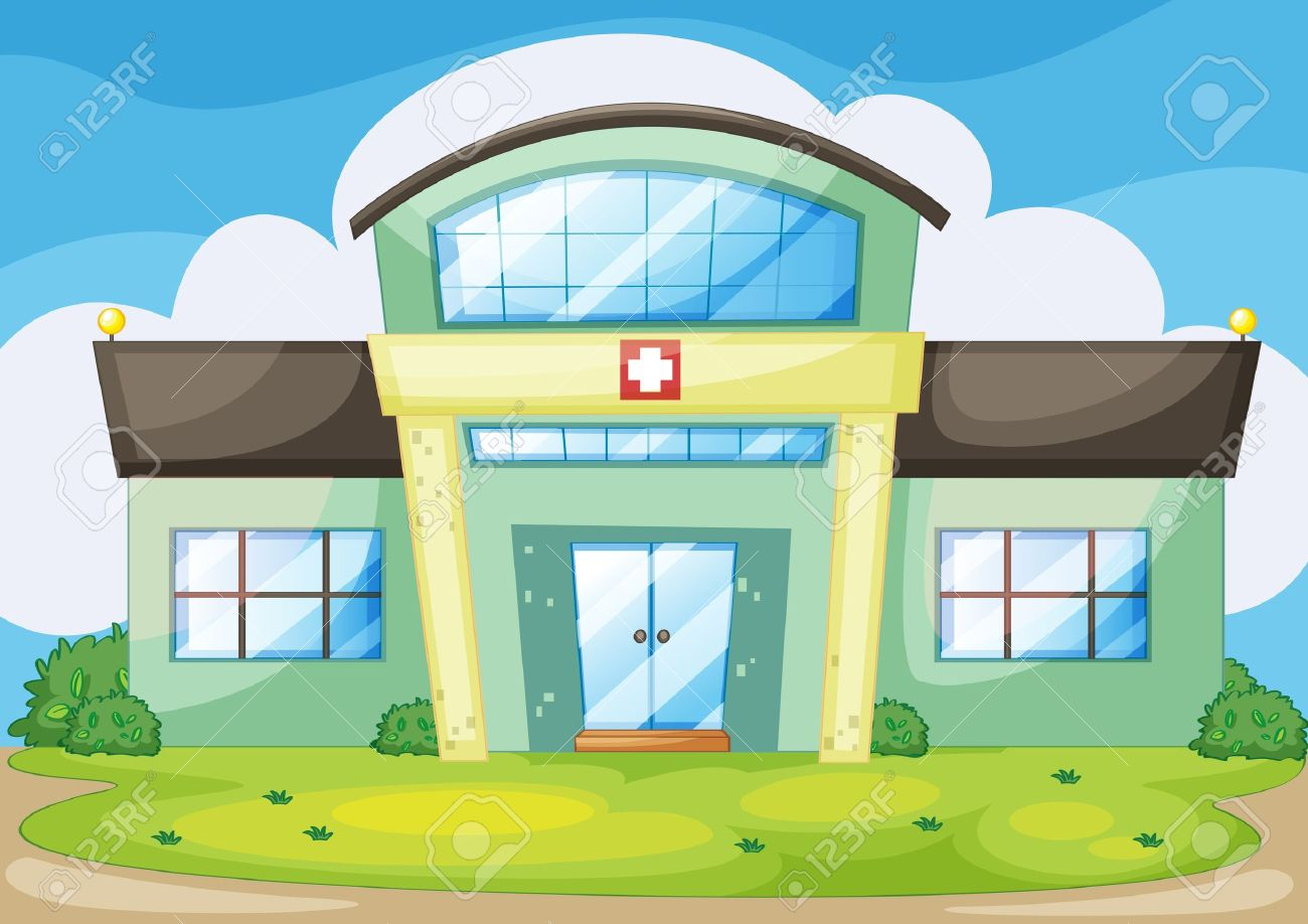 illustration of a modern hospital Stock Vector - 13695127