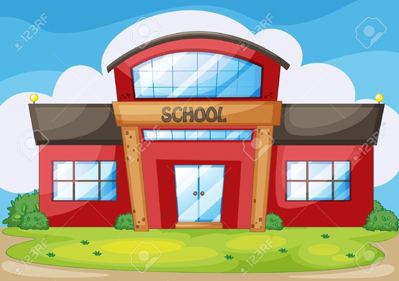 Illustration of a modern school Stock Vector - 13695126