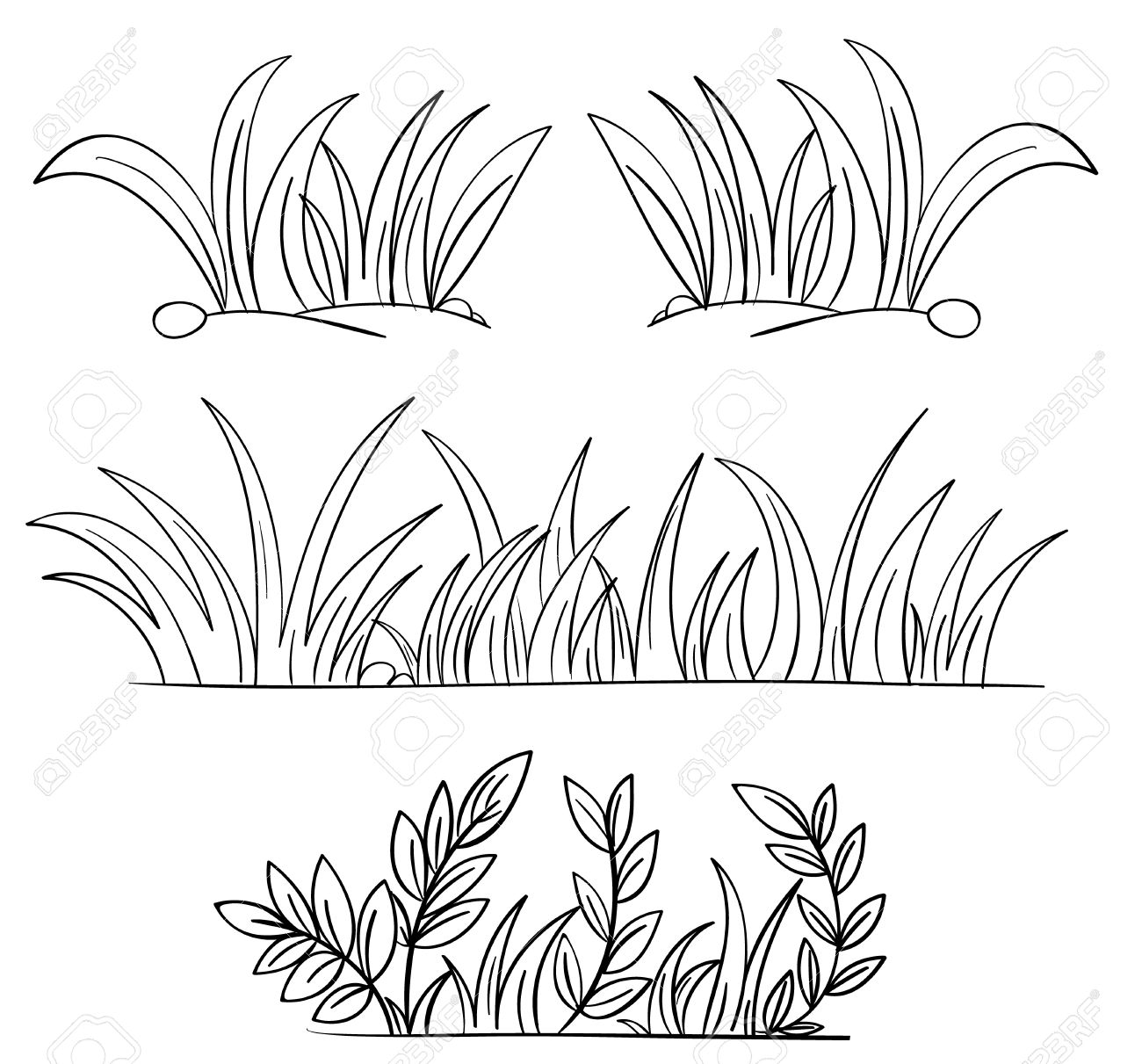 grass coloring page