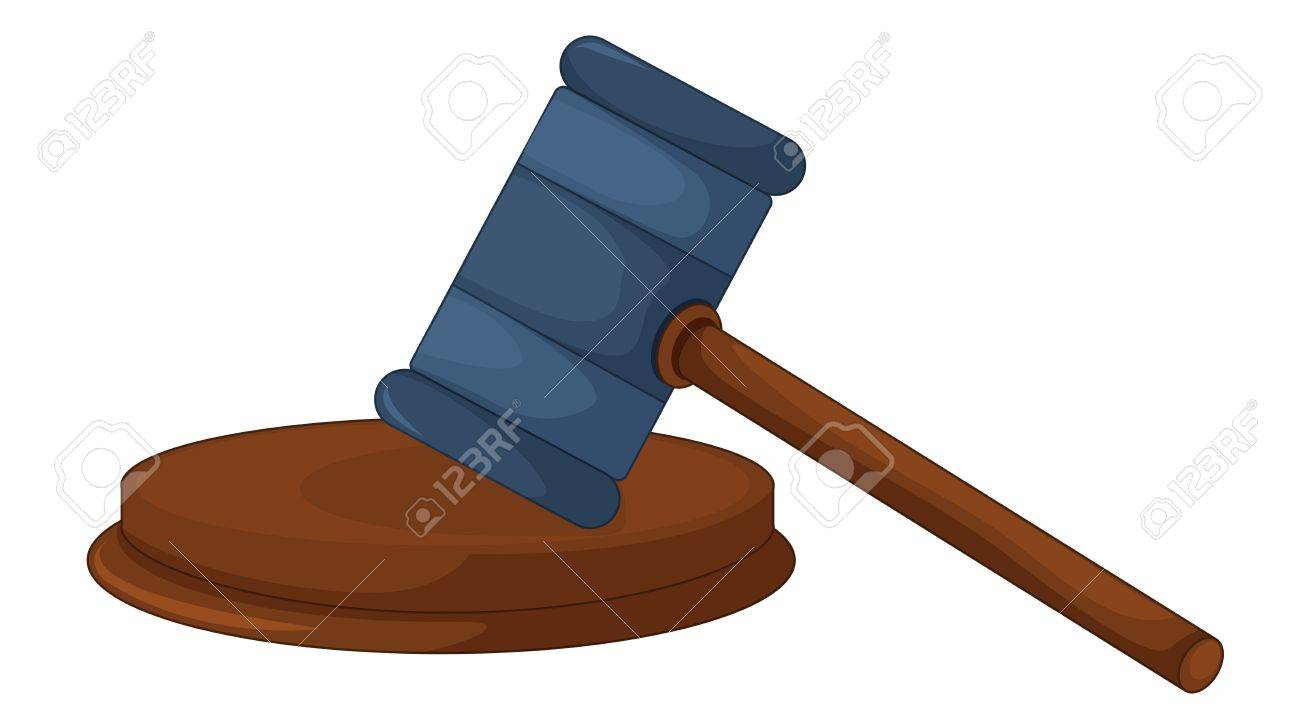 Illustration Of A Judges Gavel Stock Vector