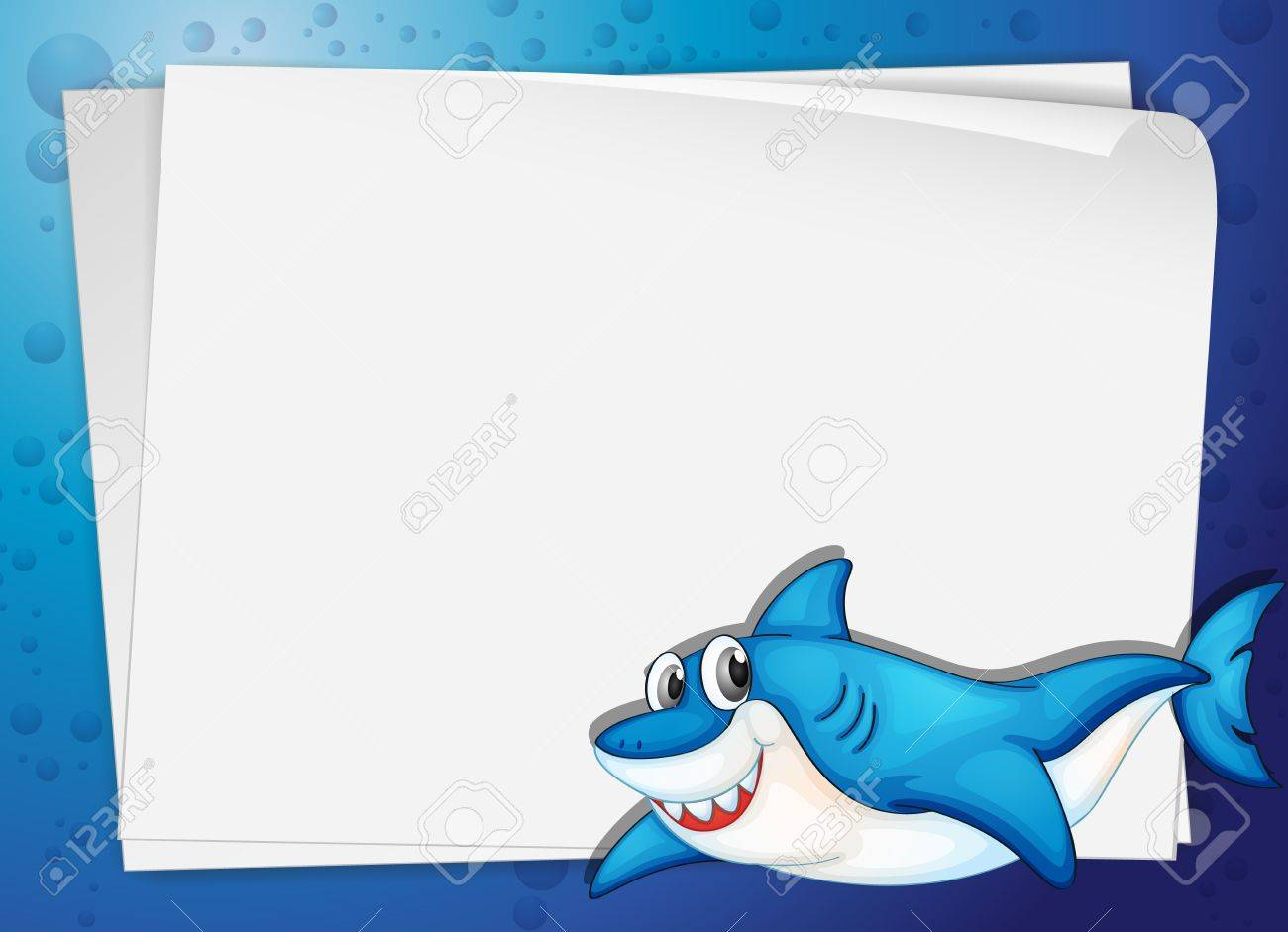 cartoon paper template of a shark royalty cliparts vectors  cartoon paper template of a shark stock vector 13700041