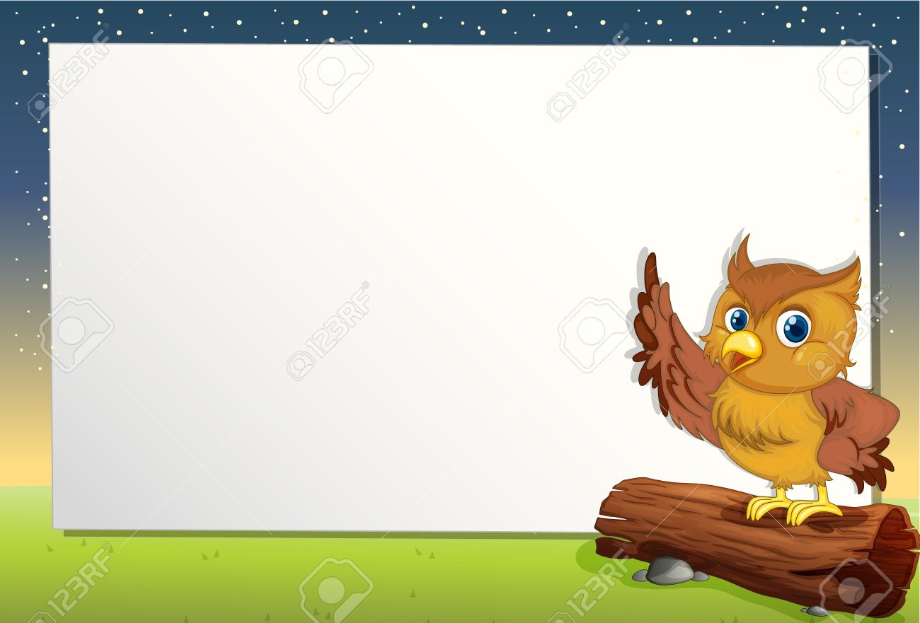 Cartoon Paper Template Of An Owl Royalty Free Cliparts Vectors – Border Paper Template