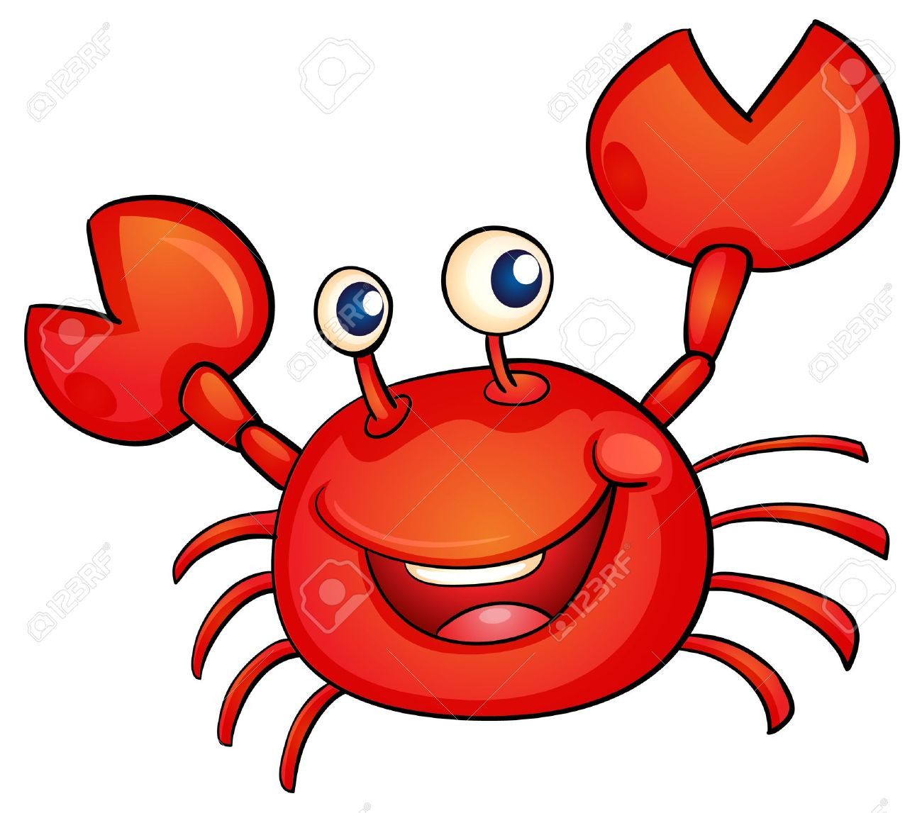 illustration of a simple crab Stock Vector - 13700065