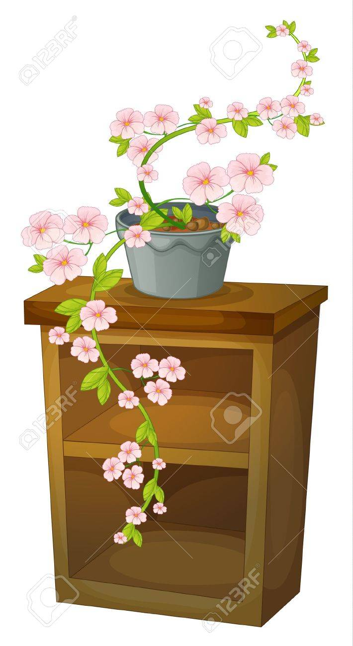 Illustration of a blossom on a shelf Stock Vector - 13700221