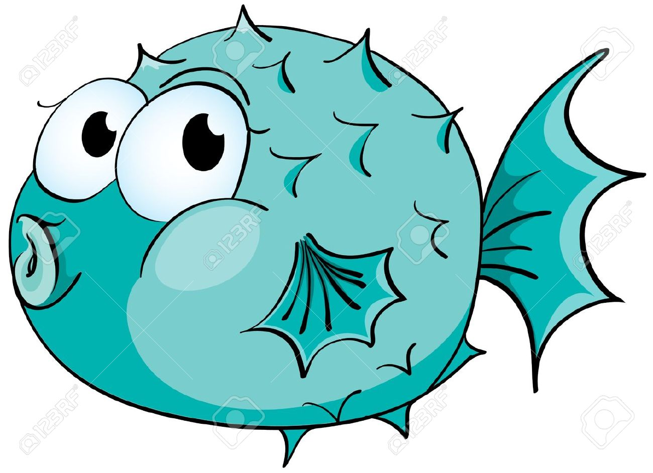 Image result for porcupine fish cartoon
