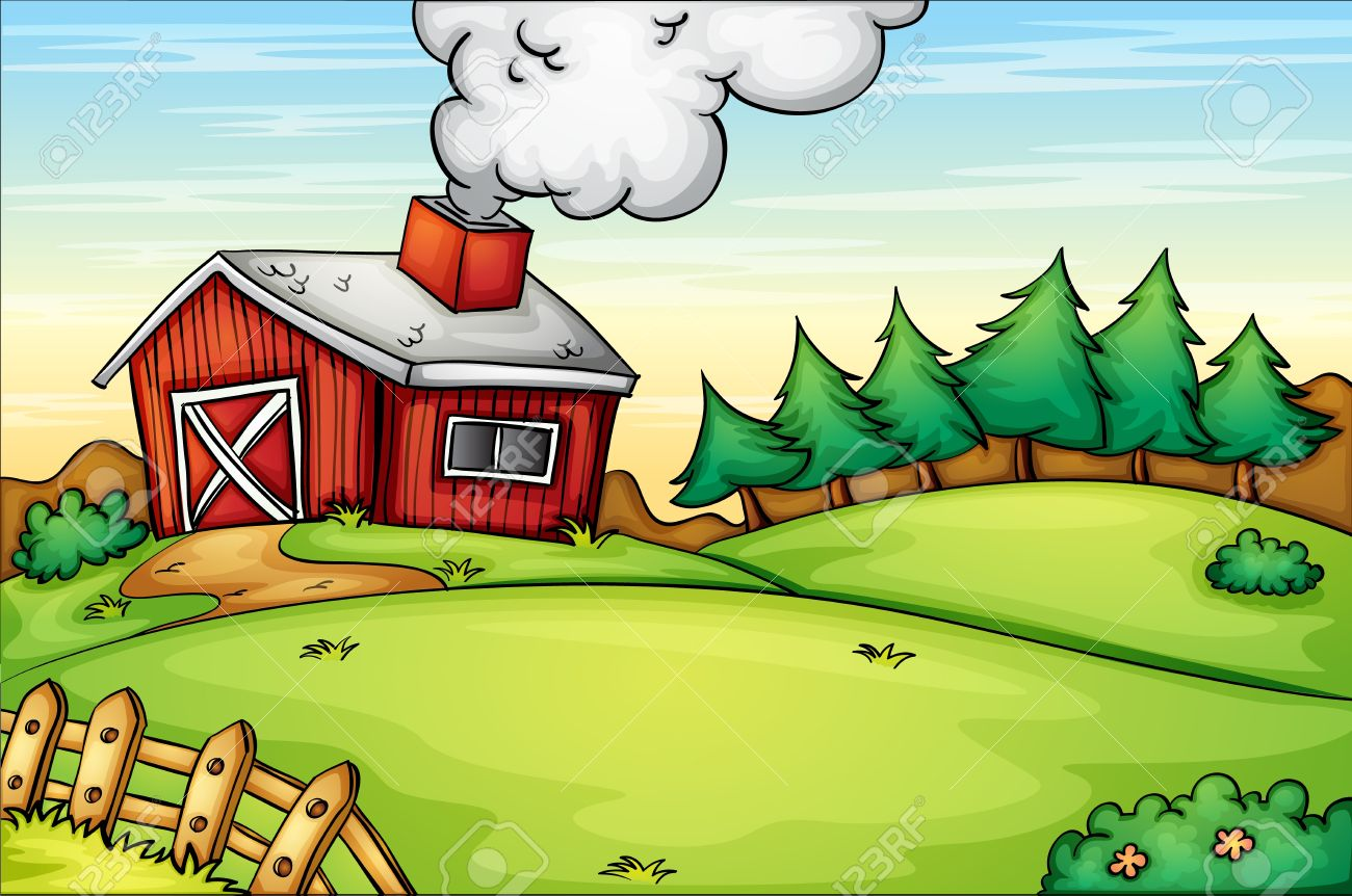 Illustration Of An Empty Farm Royalty Free Cliparts Vectors And