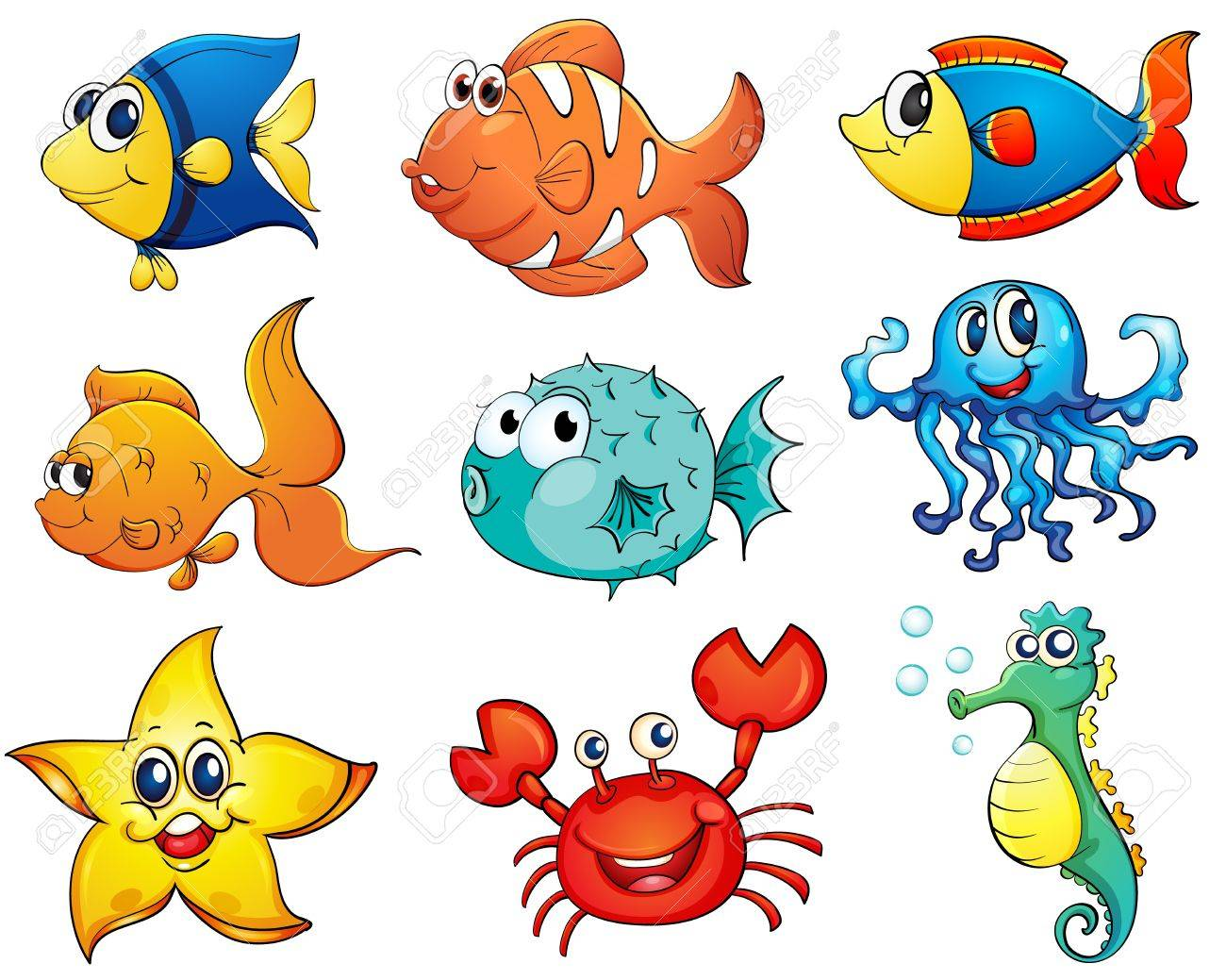 Illustration of tropical fish collection Stock Vector - 13776672