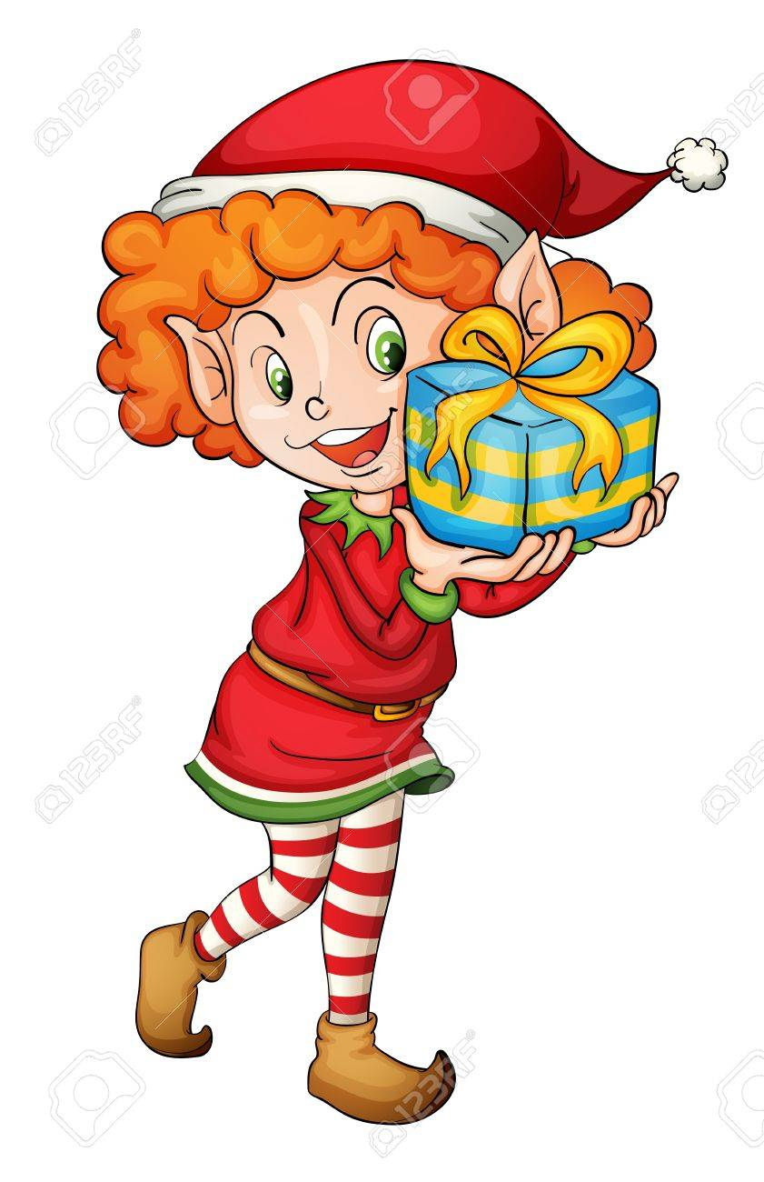 Illustration of a christmas elf Stock Vector - 13800568
