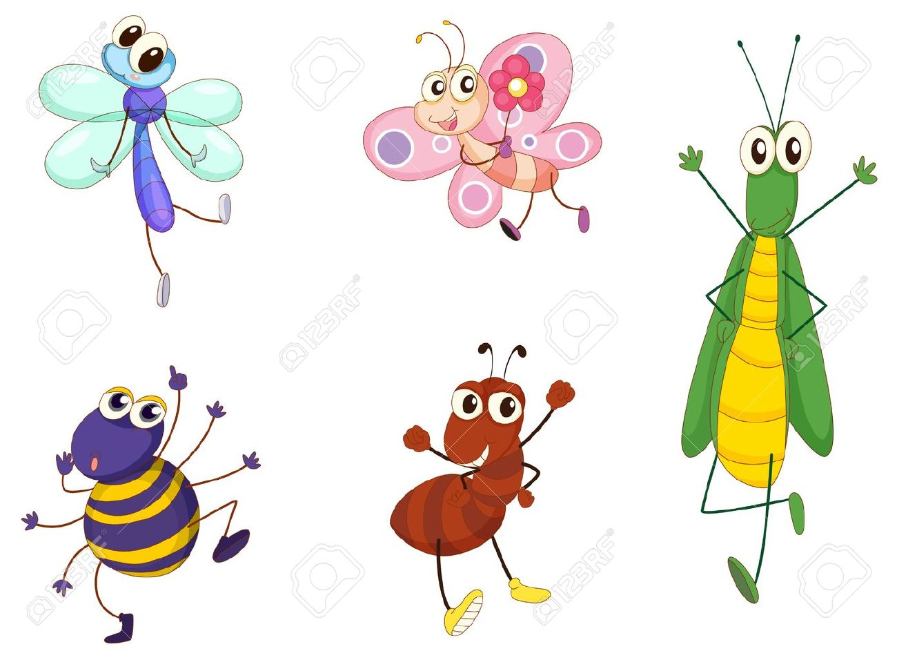 Illustration of small animals on white Stock Vector - 13800515