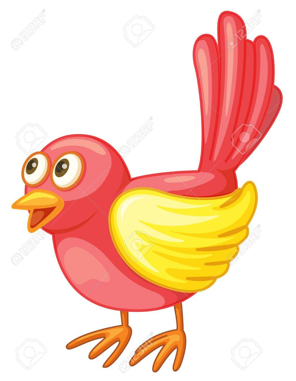 Illustration of a small red bird Stock Vector - 13800487