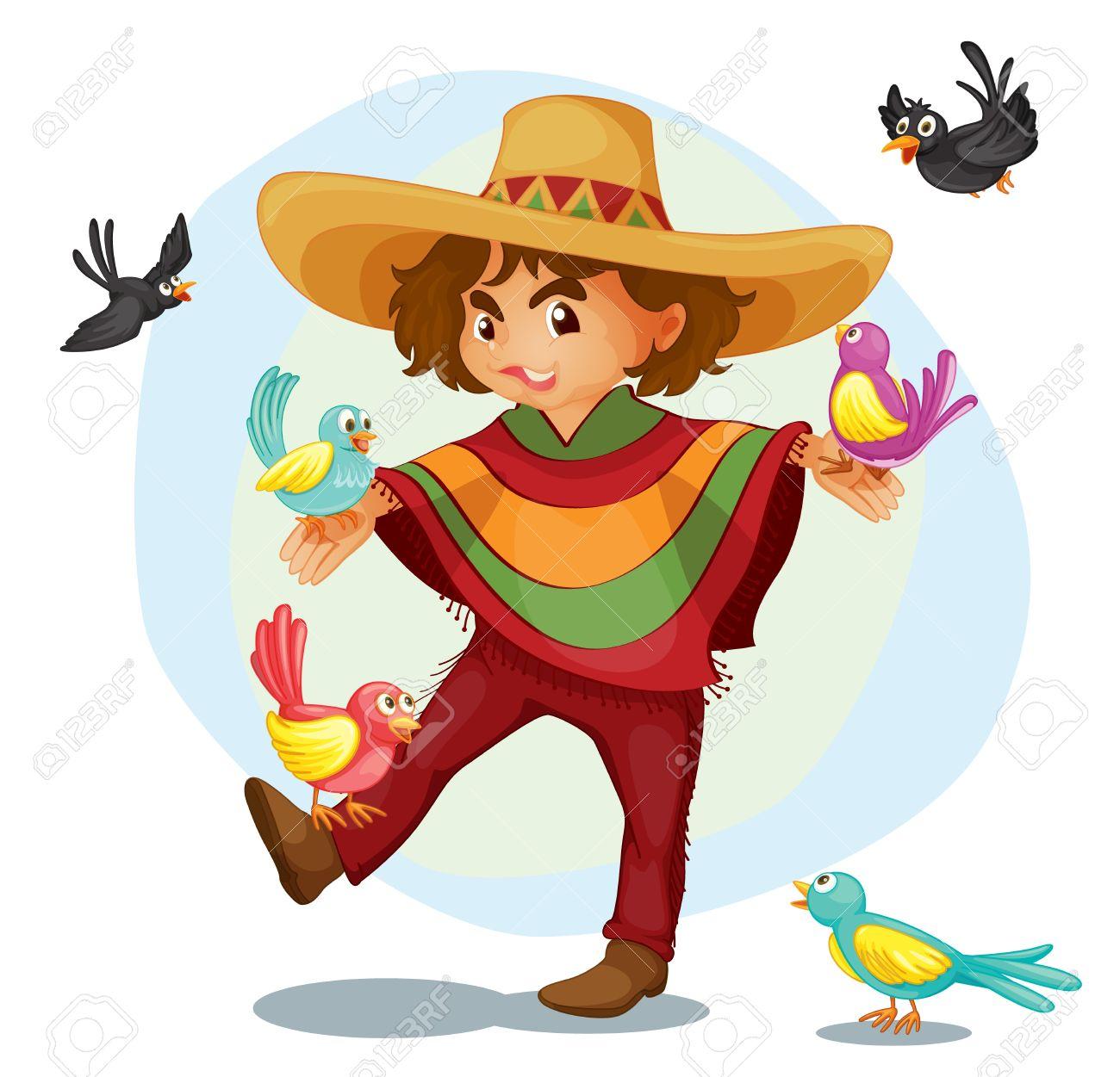 Ilustración de un niño mexicano Foto de archivo - 13825803
