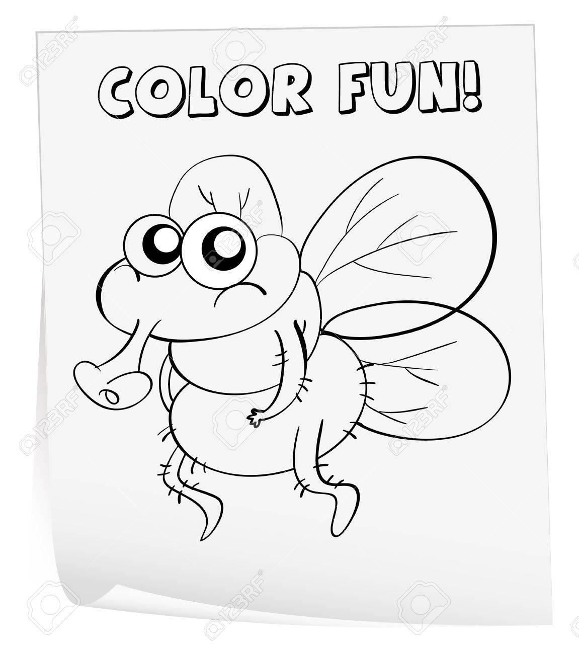 Ilustración De Una Hoja Para Colorear (germen) Ilustraciones ...