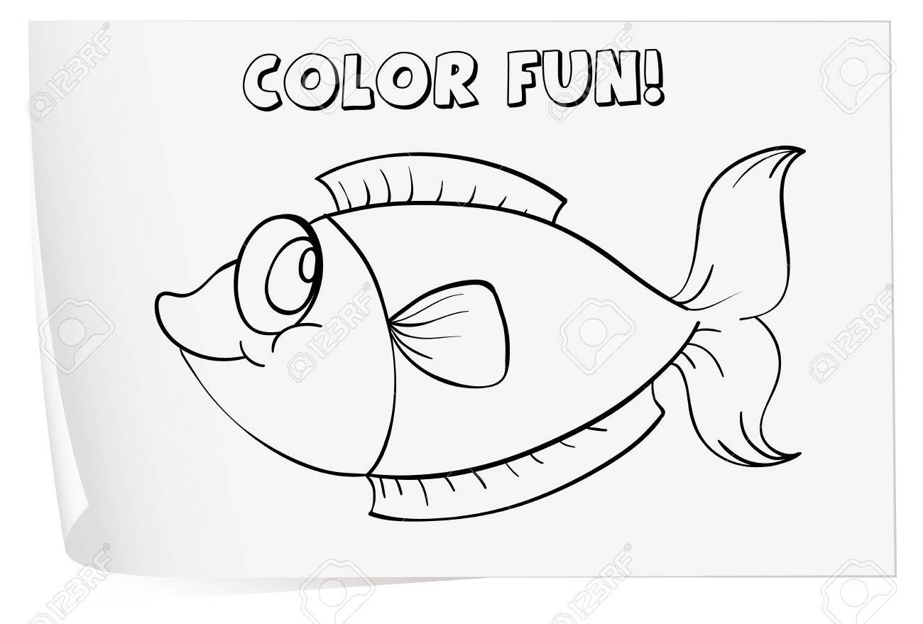 Colour Worksheet Of A Fish Royalty Free Cliparts Vectors And – Fish Worksheet
