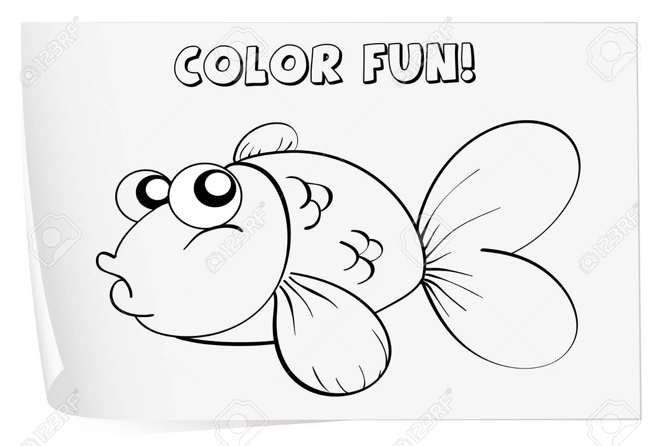 Colour Worksheet Of A Fish Royalty Free Cliparts Vectors And – Fish Worksheet