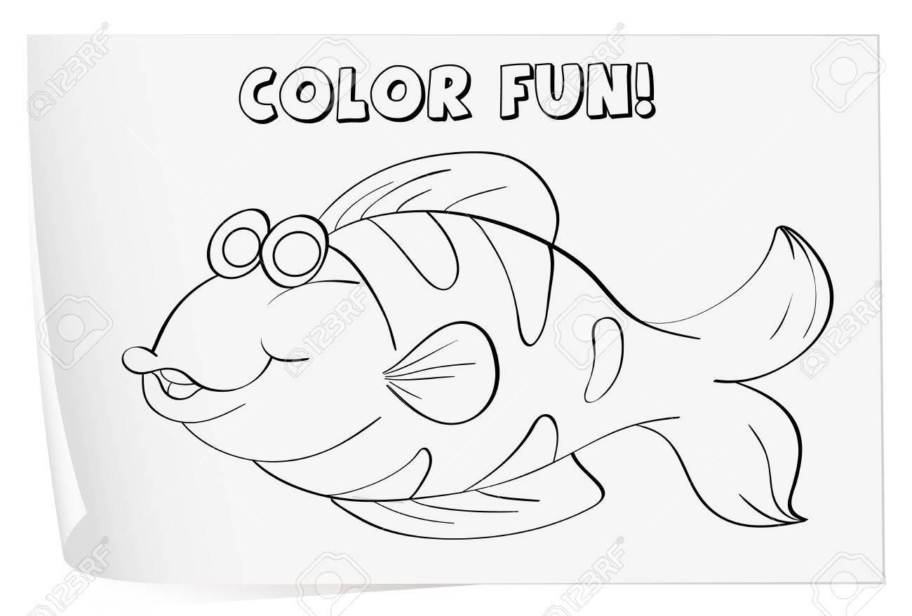 Colour Worksheet Of A Fish fish Royalty Free Cliparts Vectors – Fish Worksheet