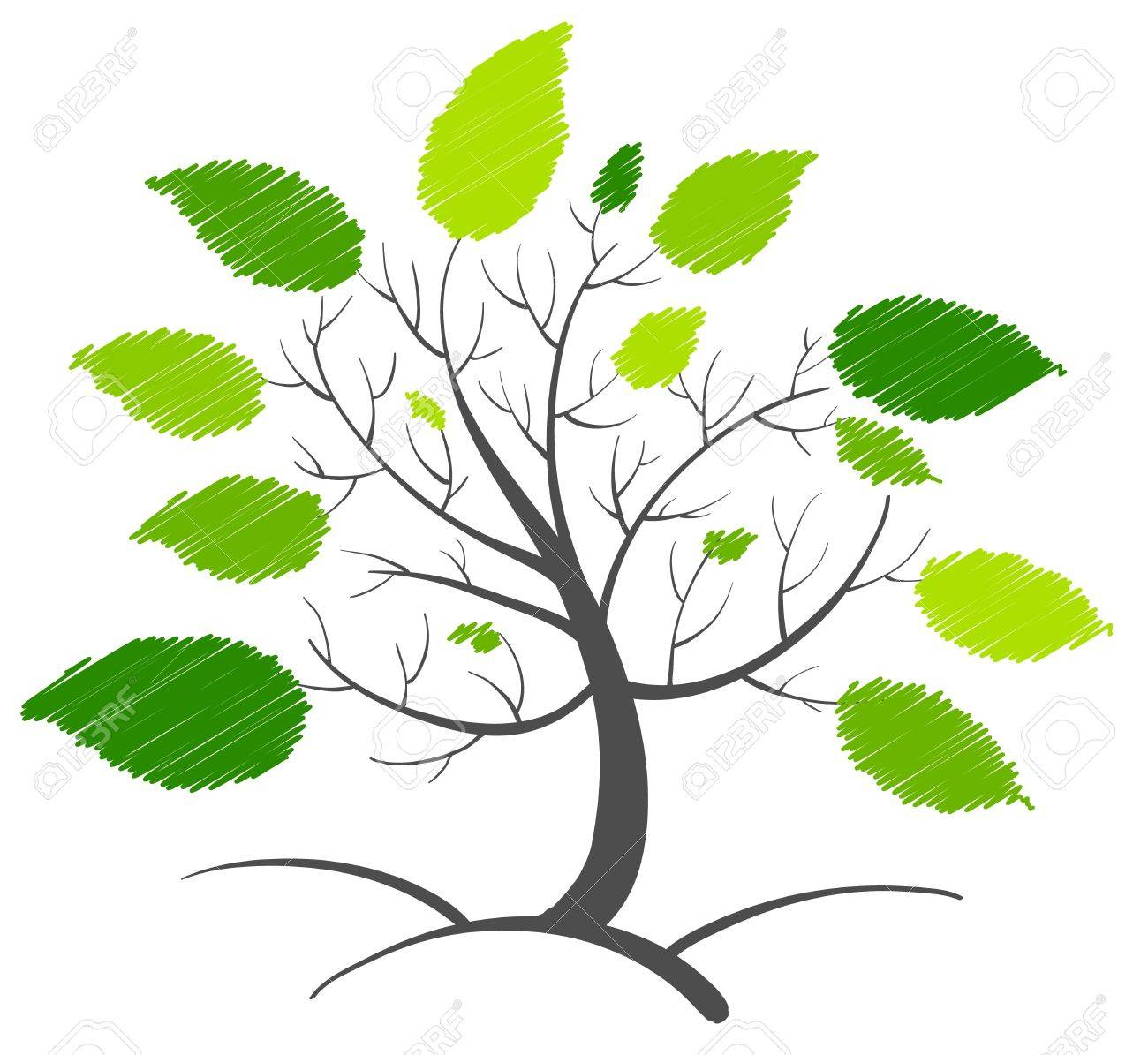 Illustration of an abstract tree concept Stock Vector - 13832233