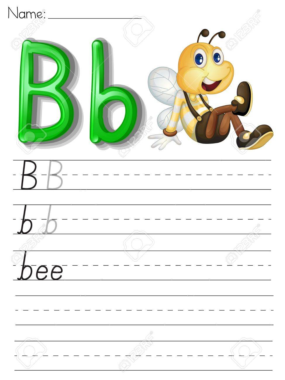 Alphabet Worksheet On White Paper Royalty Free Cliparts, Vectors  grade worksheets, math worksheets, education, multiplication, alphabet worksheets, and learning Phonetic Alphabet Worksheet 1300 x 975