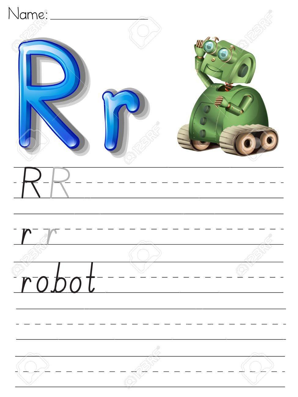 Funky Skript Alphabet Arbeitsblatt Model - Kindergarten Arbeitsblatt ...