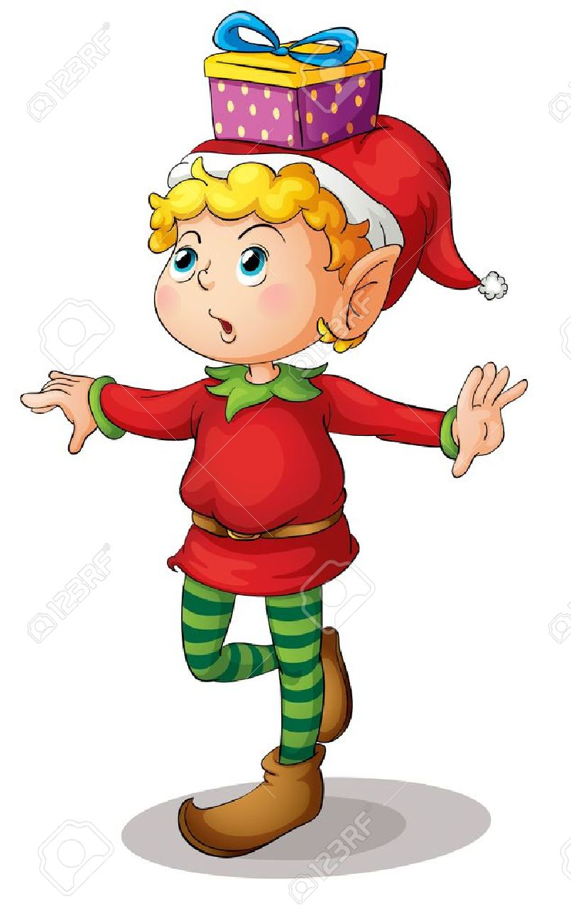 Illustration of a christmas elf Stock Vector - 13930685