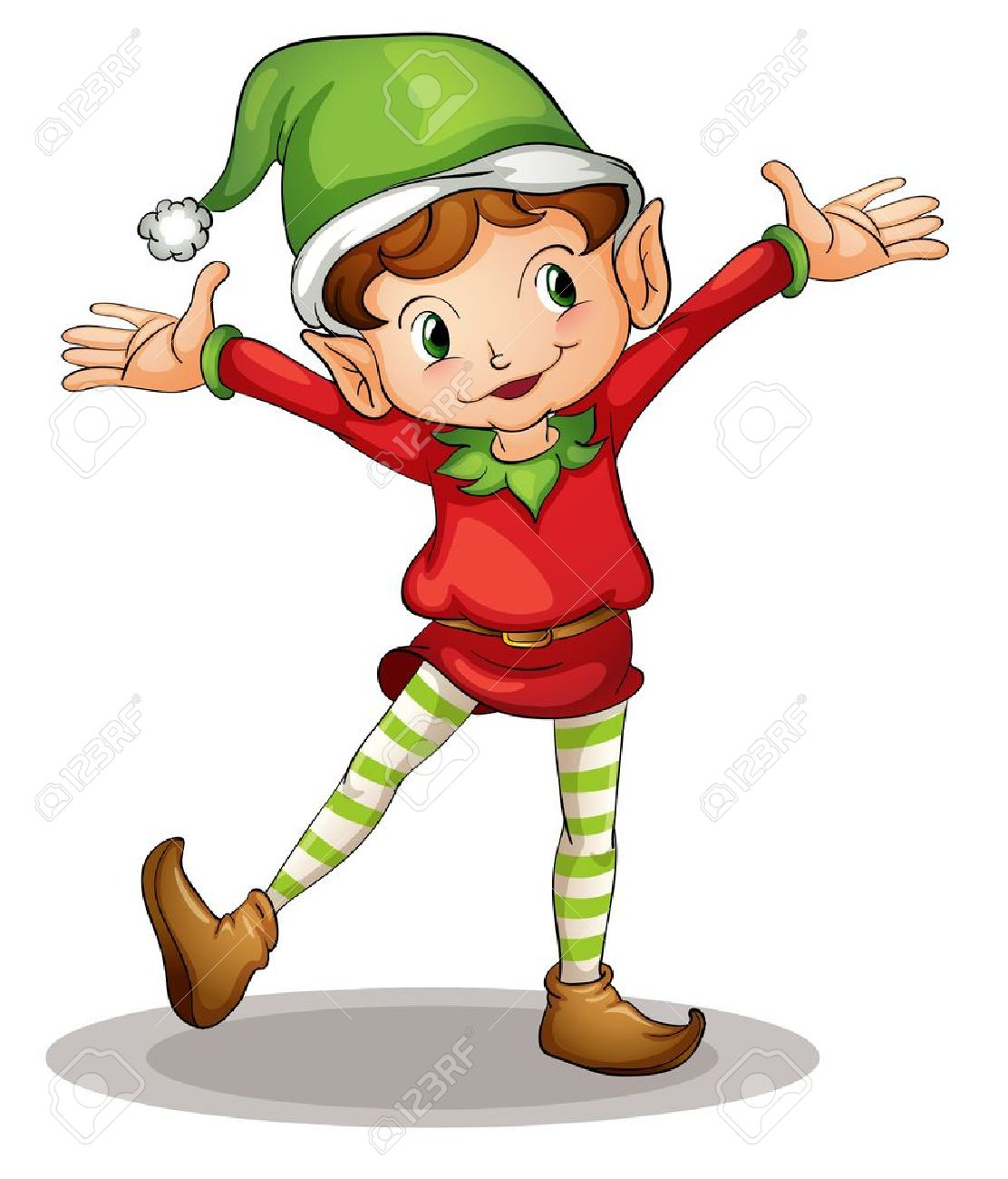illustration of a christmas elf royalty free cliparts vectors and