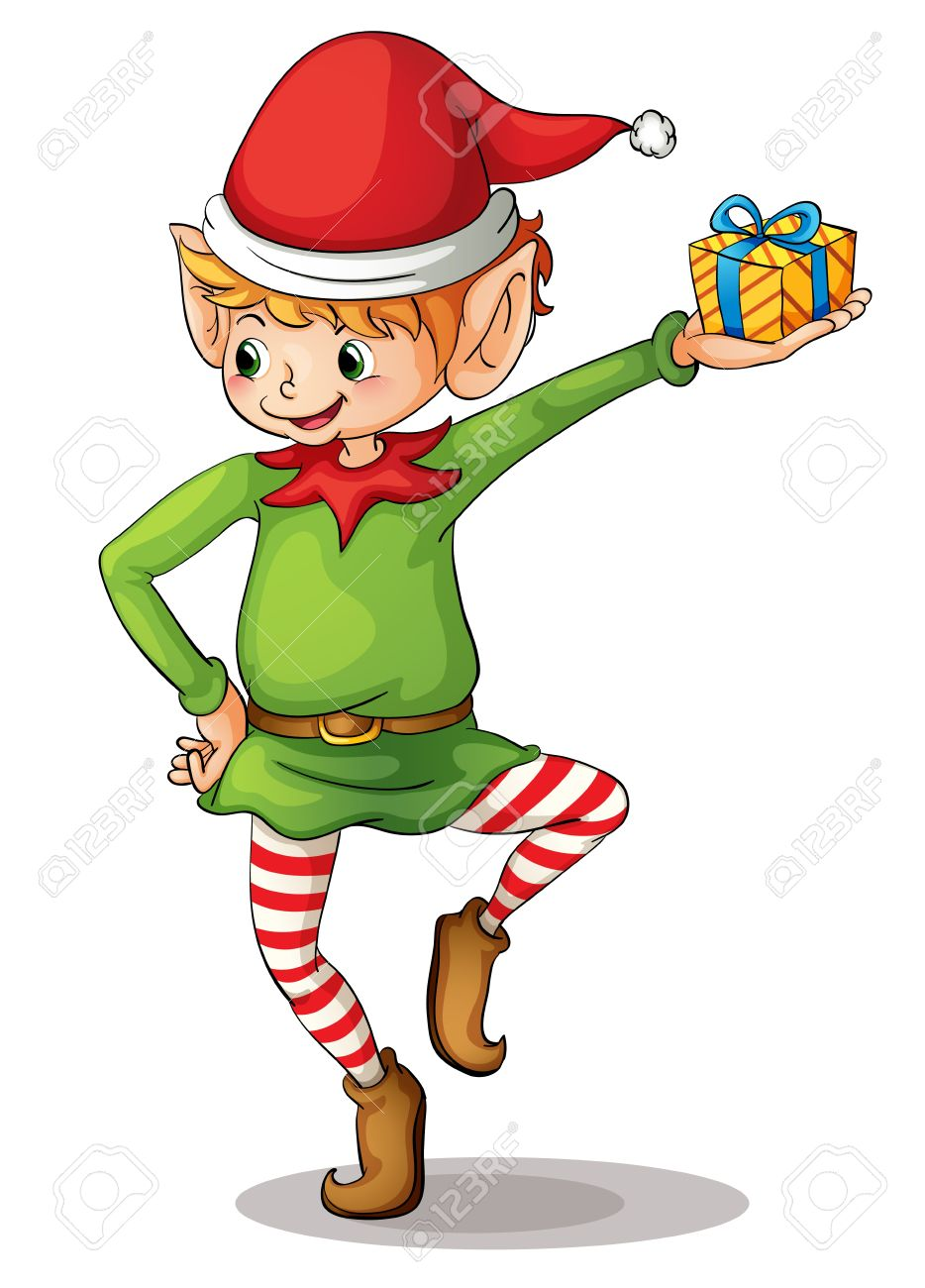 Illustration Of A Christmas Elf Royalty Free Cliparts, Vectors ...