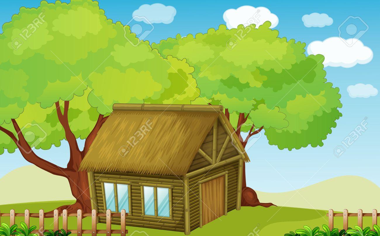 Illustration of a small hut Stock Vector - 13930814