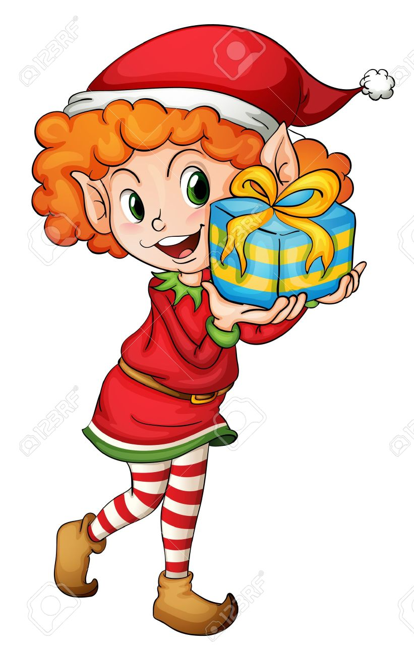 Illustration of a christmas elf Stock Vector - 13930756