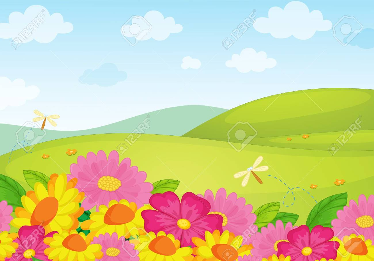 Illustration of an empty flower background Stock Vector - 13935202