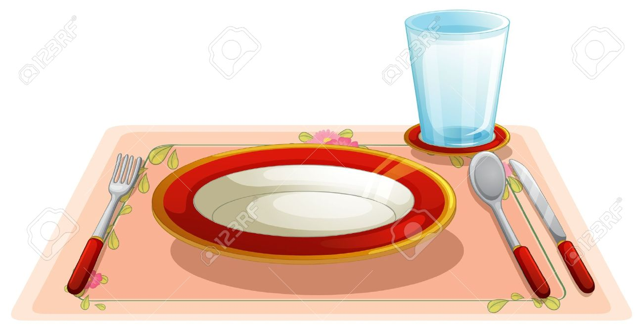 Illustration Of A Set Table Royalty Free Cliparts, Vectors, And ...