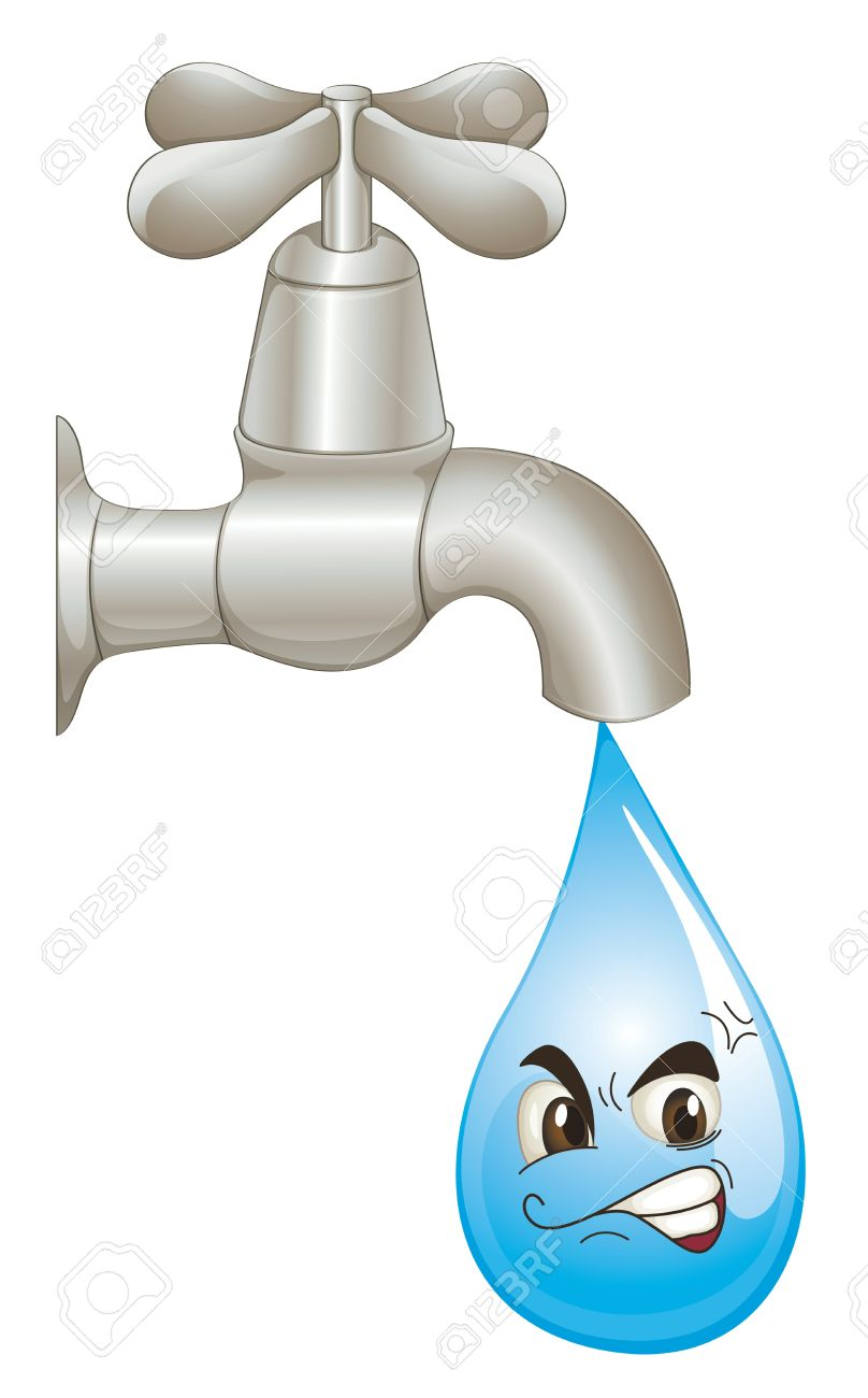 Illustration of wasted water concept Stock Vector - 13935162