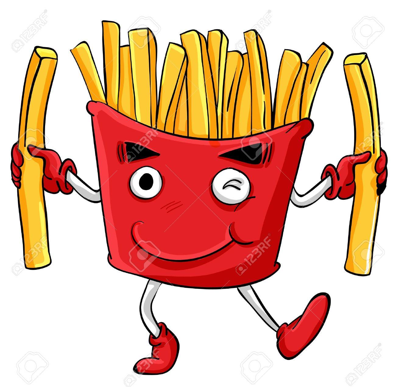 Illustration of comical cartoon food Stock Vector - 13935073